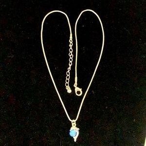 "Dolphin 🐬 necklace w/ Fox chain silvertone 16-19"""